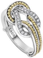 Lagos Newport 18K Gold Diamond Knot Ring