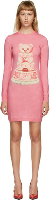 Moschino Pink Wool Teddy Bear Dress