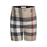 Burberry BurberryBaby Boys Beige Check Cotton Shorts