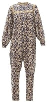 Etoile Isabel Marant Vasco Floral-print Cotton Jumpsuit - Womens - Navy Multi