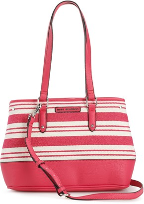 Dana Buchman Striped Hillary Small Satchel
