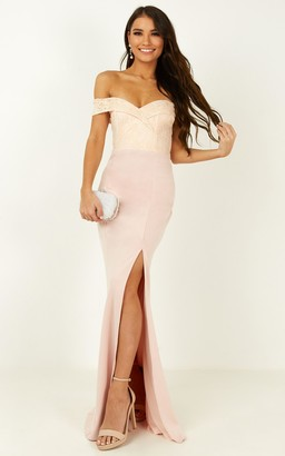 Showpo Rise To The Top Dress in blush - 6 (XS) Bridesmaid