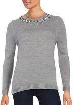 Ivanka Trump Embellished Knit Sweater