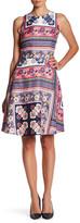 Donna Morgan Sleeveless Fit & Flare Print Dress