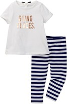Kate Spade Going Places Tee & Legging Set (Baby Girls)