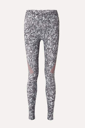 adidas by Stella McCartney Alphaskin 360 Printed Climachill Stretch Leggings - Gray