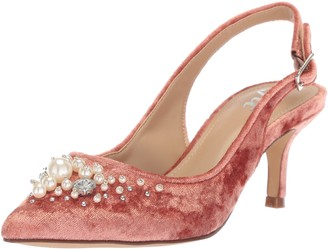The Fix Amazon Brand Women's Felicia Slingback Kitten Heel Pump with Pearls