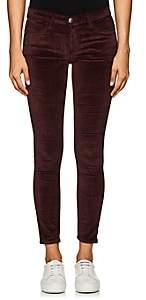 Current/Elliott WOMEN'S THE STILETTO VELVET SKINNY JEANS - RED SIZE 24