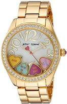 Betsey Johnson Women's Quartz Metal and Alloy Casual Watch, Color:Gold-Toned (Model: BJ00048-181)