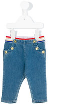 Little Marc Jacobs sailor button jeans - kids - Cotton/Polyester/Spandex/Elastane - 6 mth