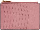 Miu Miu Pink Heart Multi Card Zip Pouch