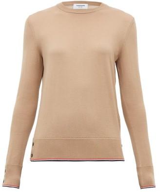 Thom Browne Striped-hem Cashmere Sweater - Womens - Camel