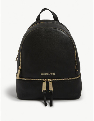 MICHAEL Michael Kors Rhea small leather backpack, Women's, Black