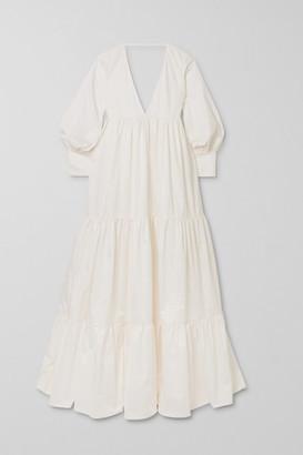 Kalita Circle Day Tiered Cotton-poplin Maxi Dress