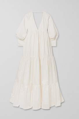 Kalita Circle Day Tiered Cotton-poplin Maxi Dress - White