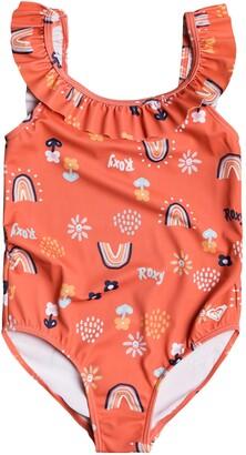 Roxy Kids' Ruffle One-Piece Swimsuit