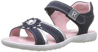 Richter Kinderschuhe Girls' Sole Ankle Strap Sandals, Blue (Atlantic/Silver 7202), 9.5 UK