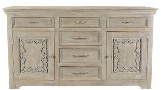 One Allium Way Patchway Carved Panel 6 Drawer Combo Dresser One Allium Way