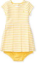 Ralph Lauren Pleated Knit Dress & Bloomer