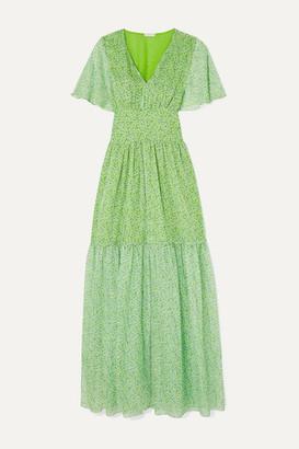 Eywasouls Malibu Maria Floral-print Chiffon Maxi Dress - Green