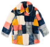 Stella McCartney abbie faux-fur color block coat