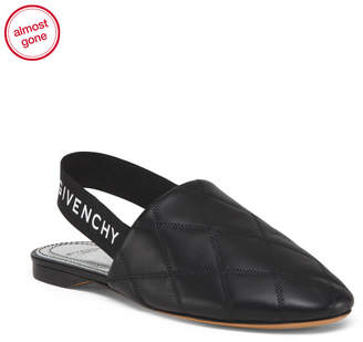 Made In Italy Slingback Leather Flats