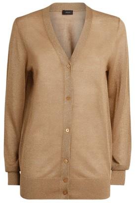 Joseph Lurex Knitted Cardigan