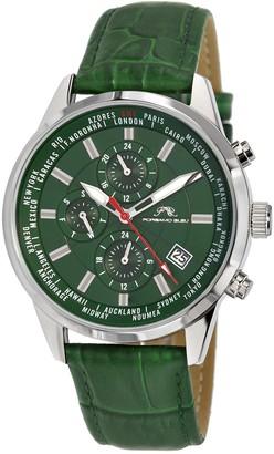 Porsamo Bleu Men's Harrison Leather Strap Watch, 41mm