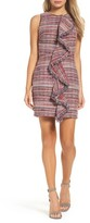 Adelyn Rae Women's Jamie Ruffle Jacquard Sheath Dress