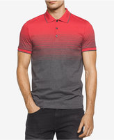 Calvin Klein Men's Slim Fit Ombré Liquid Cotton Polo