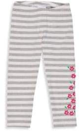 Florence Eiseman Little Girl's Striped Floral Leggings