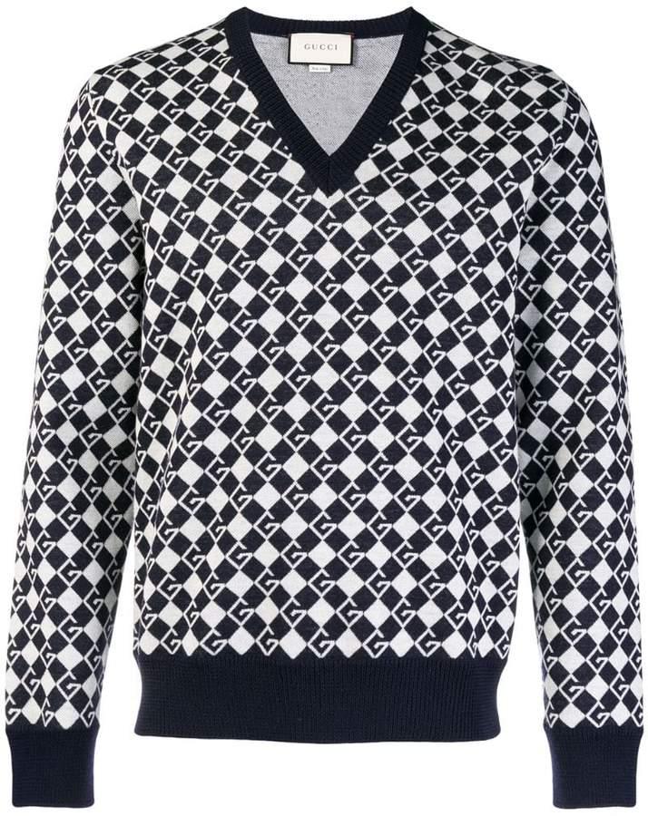 Gucci intarsia logo sweater