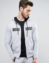 Boss Black By Hugo Boss Hooded Logo Sweat Top With Logo