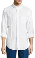 Brooks Brothers Solid Long Sleeve Sportshirt
