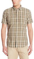 G.H. Bass Men's Short Sleeve Rock River Textured Medium Plaid Shirt