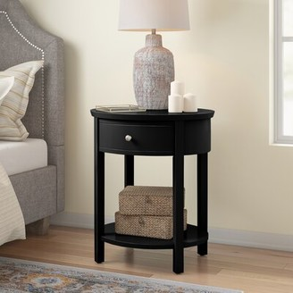 Three Posts Canterbury End Table with Storage Color: Black