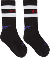 Vetements Black Reebok Edition Tennis Socks