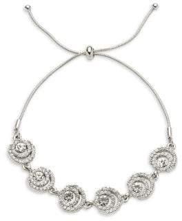 Givenchy Silvertone & Crystal Bracelet