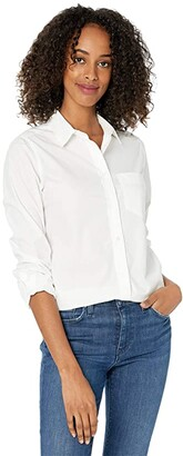 J.Crew Classic-Fit Boy Shirt in Cotton Poplin (White) Women's Clothing