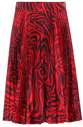 Calvin Klein Printed silk-blend skirt