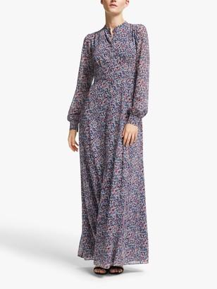 Michael Kors MICHAEL Dainty Floral Print Maxi Dress, Coral Peach