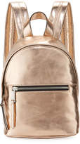 French Connection Jace Small Metallic Backpack, Rose Gold