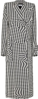 Off-White Psychedlic Houndstooth-Print Coat