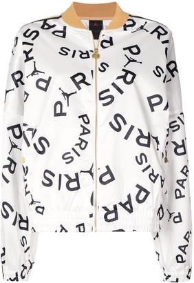Nike Paris pattern bomber jacket