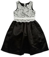 Us Angels Girls 7-16 Lace Bodice Flower Girl Dress