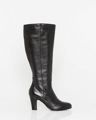 Le Château Italian-Designed Leather Knee-High Boot