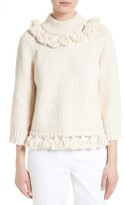 Kate Spade Women's Tassel Trim Slub Cotton Sweater