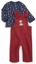 Little Me Infant Boy's Puppy T-Shirt & Overalls Set