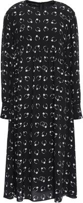 Moschino Printed Woven Midi Dress