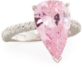 FANTASIA Large Pear-Cut Crystal Ring, Pink